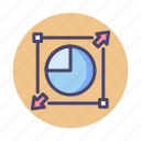 enlarge, expand, modification, resize, scale, scale modification icon