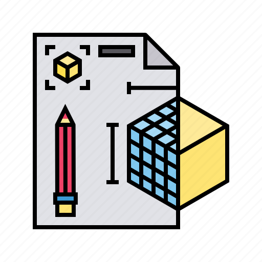 3d, file, model, paper, project, research, sketching icon - Download on Iconfinder
