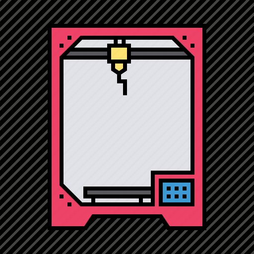 3d, device, glassware, heat, laser, machine, printer icon - Download on Iconfinder