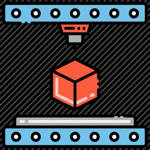 Printing Box 3d Modelling Icon
