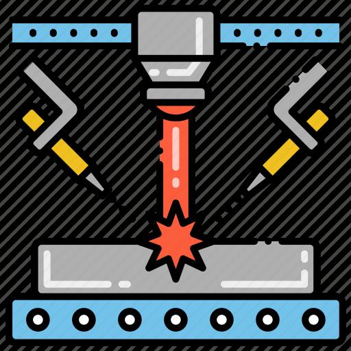 Net Laser Shape Engineering Icon