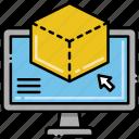 box, computer, editing, object