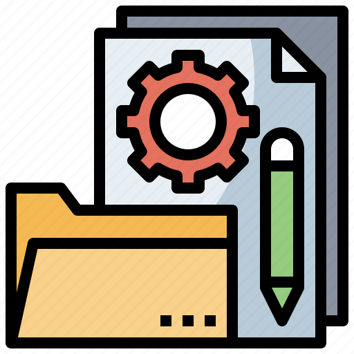 Business, document, file, finance, folders, pencil, project icon - Download on Iconfinder