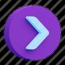 button, arrow, web, right icon