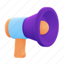 bullhorn, megaphone, announcement, speaker
