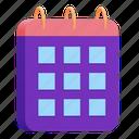 date, schedule, calendar