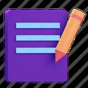 file, edit, document