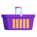 shopping, empty, basket, shop icon