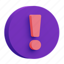 exclamation, warning, alert icon