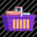 shopping, basket, full