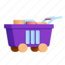 shopping, shop, full, cart icon