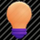 idea, light, bulb, lightbulb