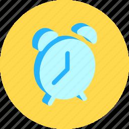 alarm, bell, clock, time, wake icon