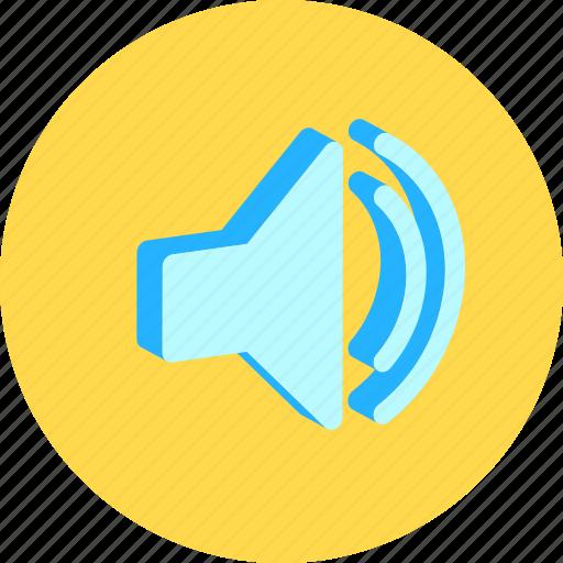 audio, louder, speaker icon