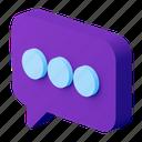 chat, message, bubbles