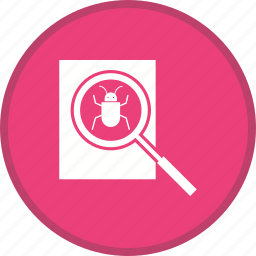 bug, debugging, virus icon