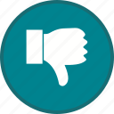 direction, dislike, down, thumb icon