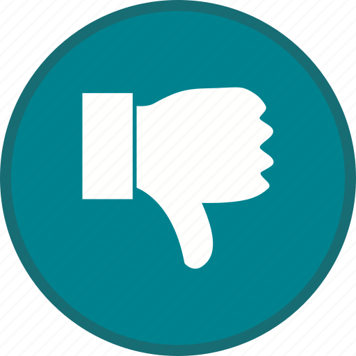 dislike, down, thumb icon