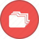 document, file, folder, management icon