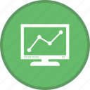 chart, graph line screen, statistics icon