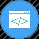 coding, html, online, programming, seo, web icon