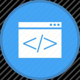 coding, html, programming, web icon