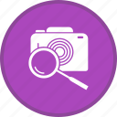 camera, find, image, magnifier, picture, search icon