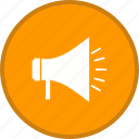 advertising, announcement, bullhorn, loudspeaker, megaphone, speaker icon