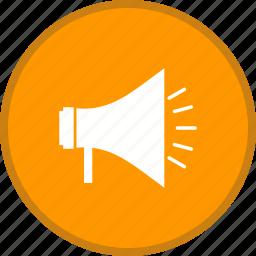 announcement, megaphone, speaker icon