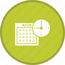 alarm, calender, clock, schedule, time planing icon