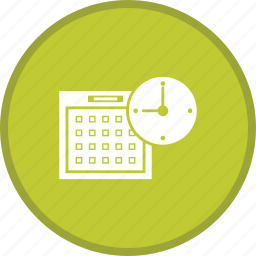 calender, clock, time planing icon