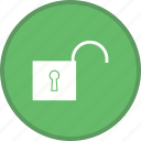 open, security, unlocked icon