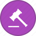 justice, tool, tools, wood hamer, work icon