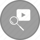 find, magnifier, magnifying, search, youtube icon