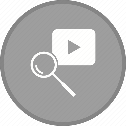 find, magnifier, search, youtube icon