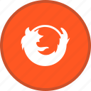 browser, firefox, logo, media, network, sign, social icon