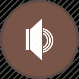 audio on, music, sound, speaker, volume icon