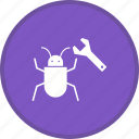 bug, fixing, insect, optimization, seo, virus icon