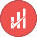graph, graph bar checked, growth, report, statistics icon