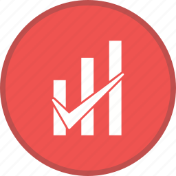 graph bar checked, report, statistics icon