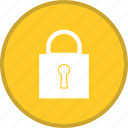 closed, lock, padlock, password, security icon