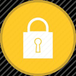 closed, lock, padlock, password, security icon