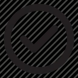 accept, approve, complete, ok icon