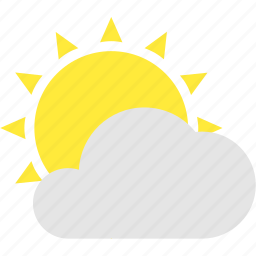 cloud, cloudy, partly, sun, weather icon