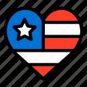 america, flag, heart shaped, united states, united states of america, usa icon