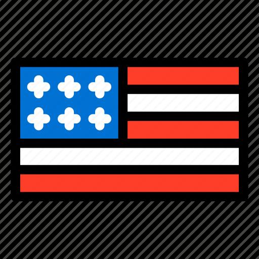 flag, star, united states, united states flag, united states of america, usa icon