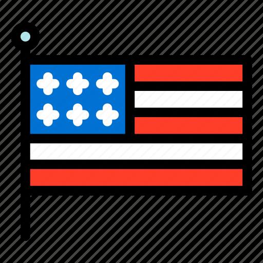 flag, united states, united states flag, united states of america, usa icon
