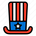 american, flag, hat, united states, united states flag, united states of america icon