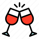 cheers, drink, glasses, red wine, united states of america, wine icon