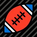 american, american football, american football ball, ball, sport, united states of america, usa icon